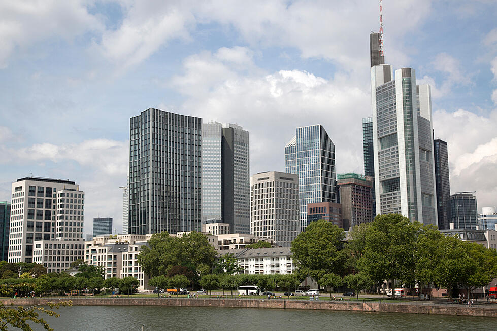 Cityscape of Frankfurt in Germany
